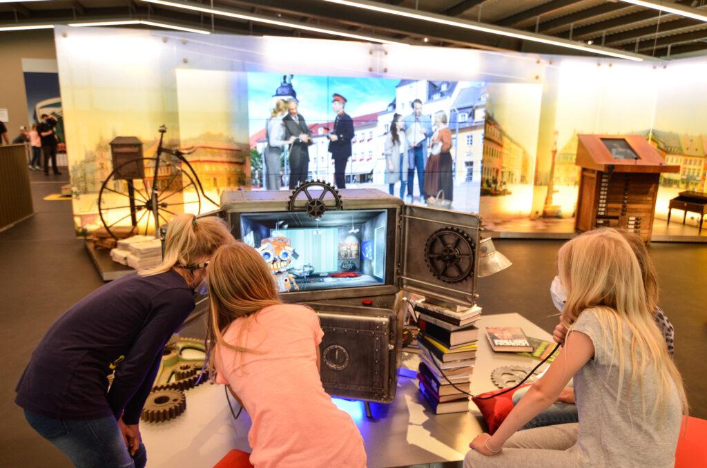 ZeitWerkStadt Kinder Kinderstationen Erlebnismuseum Friedhelm interaktiv